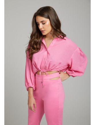 Conjunto-Camisa-E-Calca-Com-Abertura-No-Cos-Rosa-Chiclete