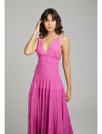 Vestido-Longo-Decote-V-C--Alca-De-Trancada-Pink