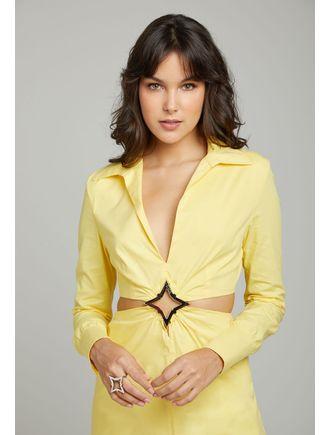Vestido-Estrela-E-Abertura-Na-Cintura-Com-Fenda--S-Amarelo