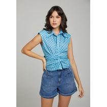 Camiseta-C--Gola-E-Patte-Com-Laco-Para-Amarracao-AzulPiscina
