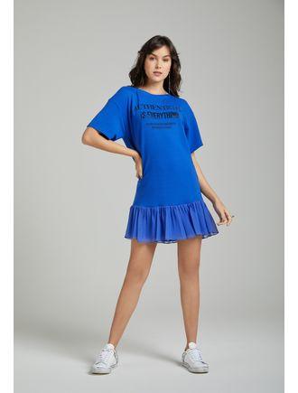 Vestido-Curto-De-Moletom-Com-Aplicacao-De-Transfer-Azul-Royal