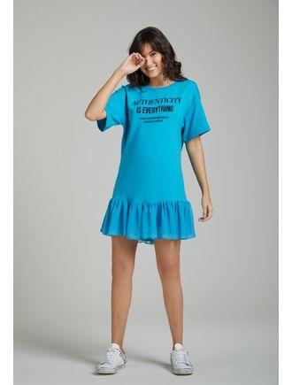Vestido-Curto-De-Moletom-Com-Aplicacao-De-Transfer-Azul-Piscina