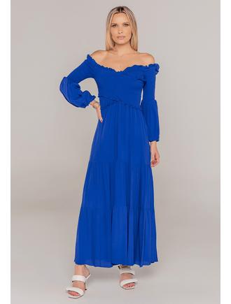 Vestido-Longo-Com-Lastex-No-Busto-Azul-Marinho