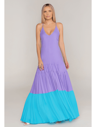 Vestido-Longo-De-Viscose-Roxo-E-Azul