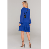Vestido-Curto-Manga-Longa-Azul-Marinho