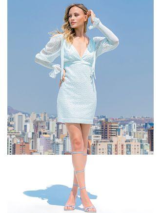 Vestido-De-Renda-Com-Franjas-No-Ombro-Azul