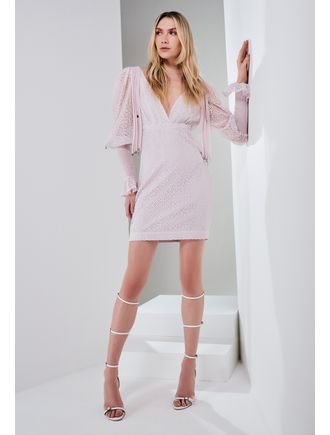 Vestido-De-Renda-Com-Franjas-No-Ombro-Lavanda